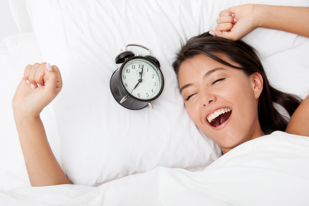 Time to wake up for a beautiful woman sleeping